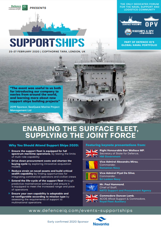 View the Agenda | Support Ships 2020