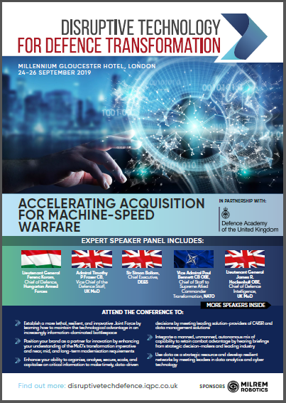 Disruptive Technology for Defence Transformation 2019 Agenda