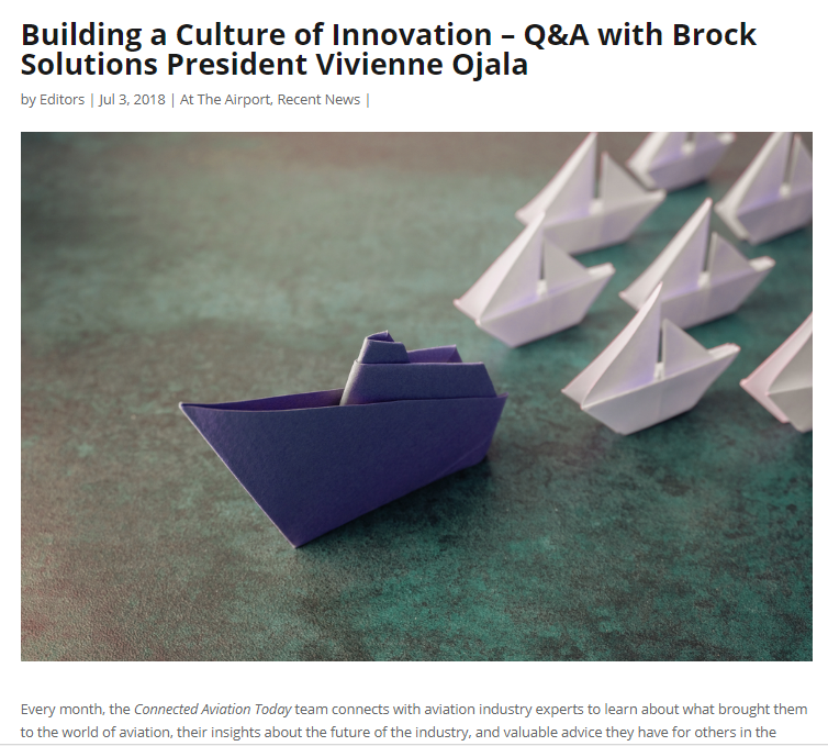 Building a Culture of Innovation – Q&A with Brock Solutions President Vivienne Ojala