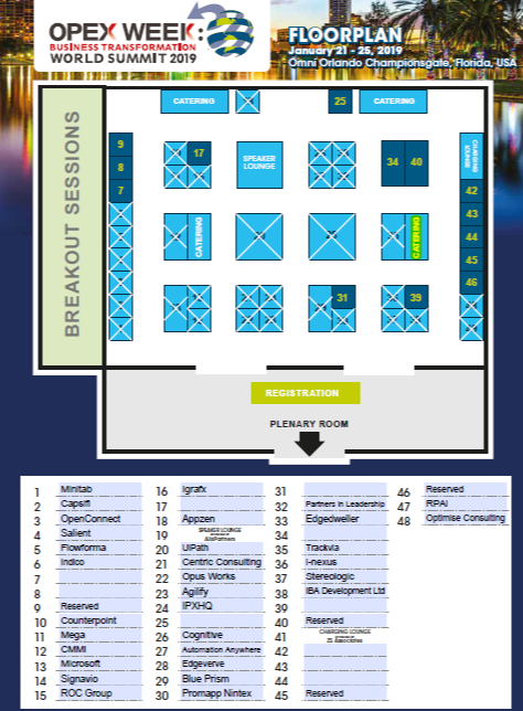 OPEX Week 2019 - spex - 2019 Floorplan