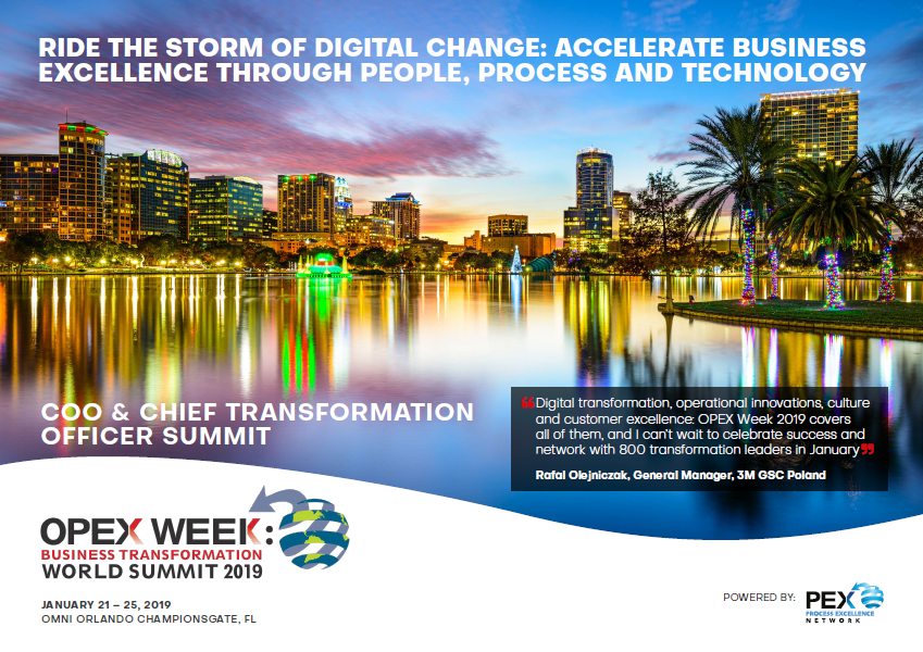 OPEX Week COO & Chief Transformation Officer Summit Agenda