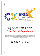 CX Awards Application Form 2020 - Best Brand Experience