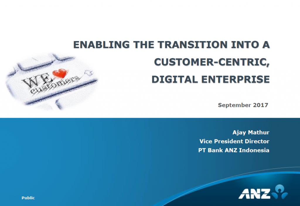 ENABLING THE TRANSITION INTO A CUSTOMER-CENTRIC, DIGITAL ENTERPRISE