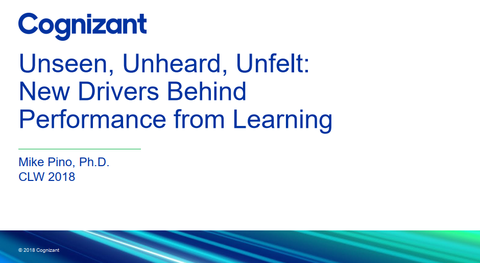 Unseen, Unheard, Unfelt: New Drivers Behind Performance from Learning