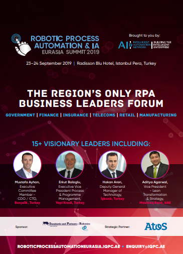 View Detailed Agenda: Robotic Process Automation & IA Eurasia Summit