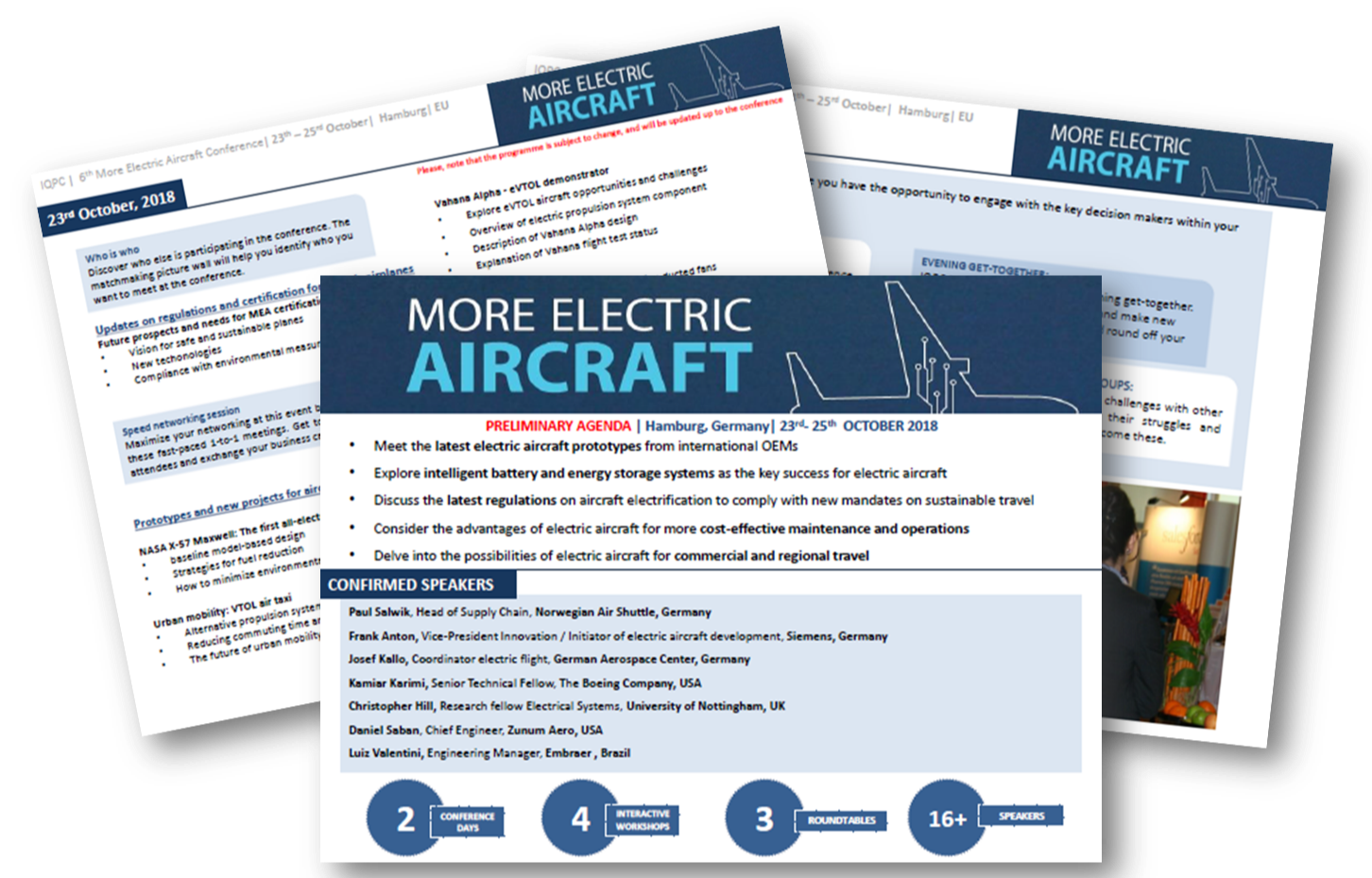Agenda More Electric Aircraft Europe 2018