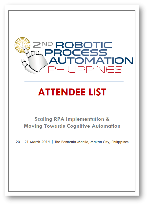 2019 RPA Philippines Attendee List