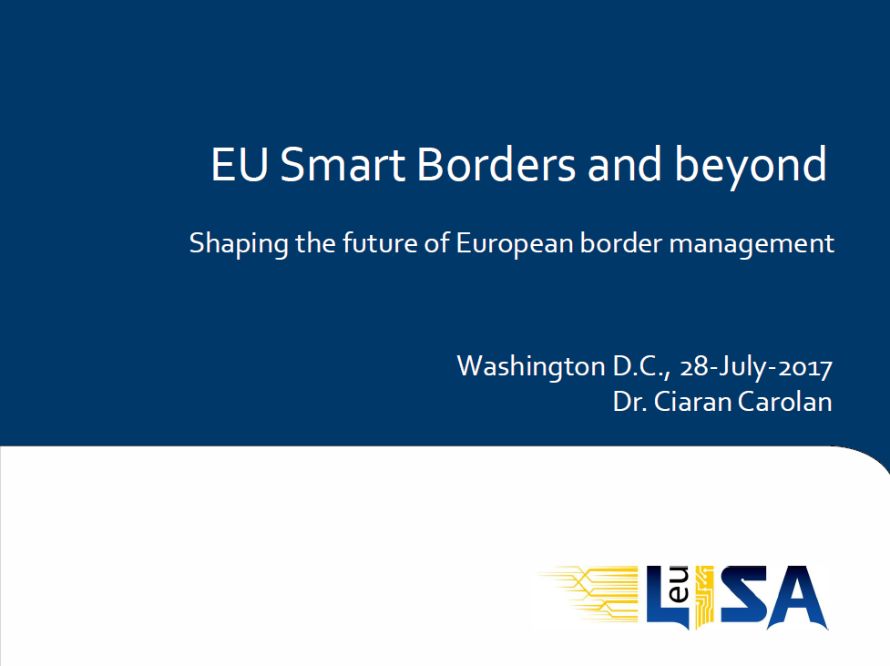 EU-Lisa Update on Smart Borders Package Program