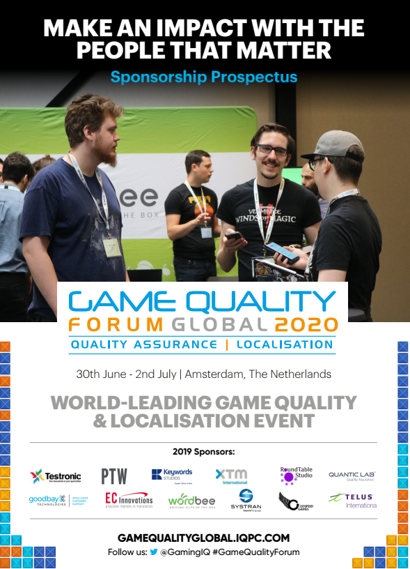 Game Quality Forum Global 2020 Business Development Pack