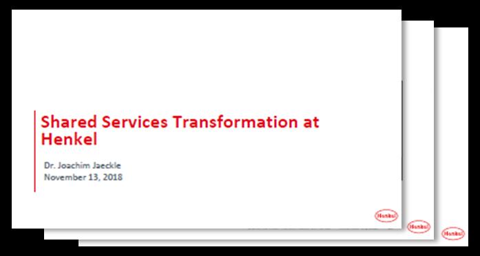 Präsentation: Henkel über zukünftige Strategien für automatisierte globale Shared Service Center