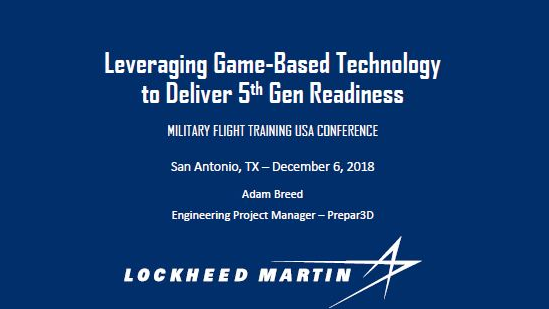 Leveraging Game-Based Technology to Deliver 5th Gen Readiness