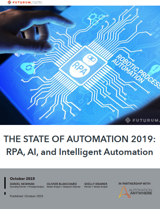 The State of Automation in 2019: RPA, AI & Intelligent Automation [Futurum Research]