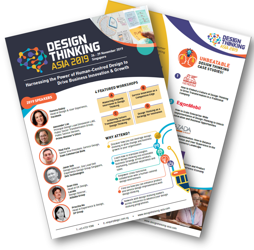 View your Design Thinking Asia 2019 Brochure