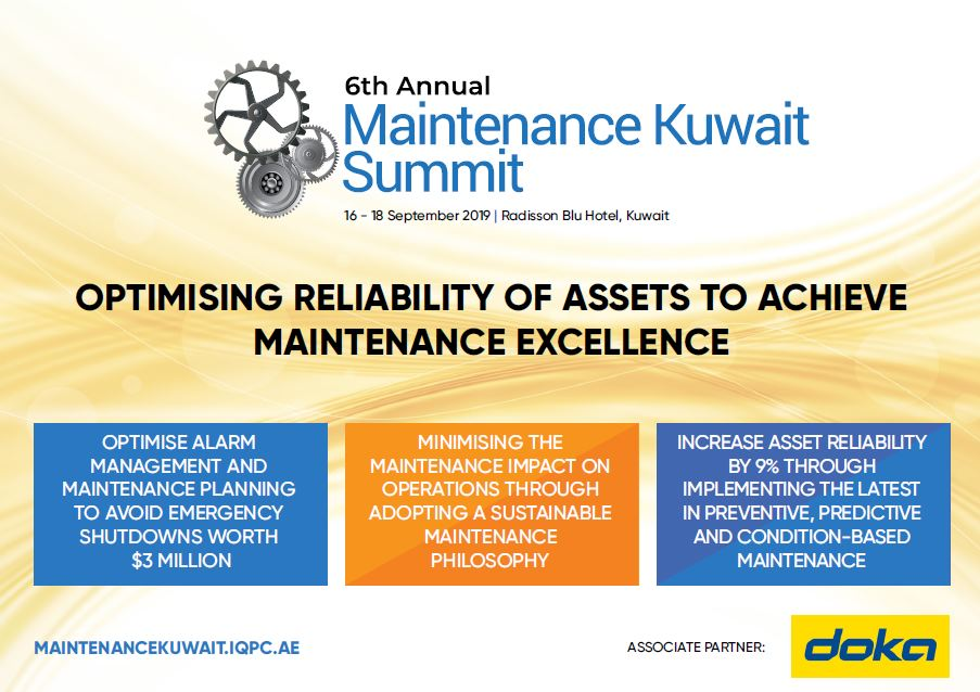 Brochure: 6th Annual Maintenance Kuwait Summit 2019
