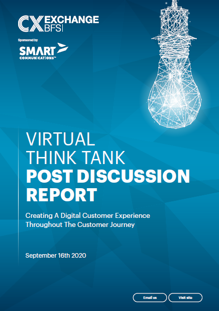 Virtual Think Tank | Post Discussion Report | Creating A Digital Customer Experience Throughout The Customer Journey