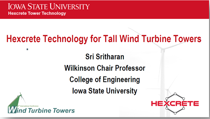 Hexcrete technology for tall wind turbine towers