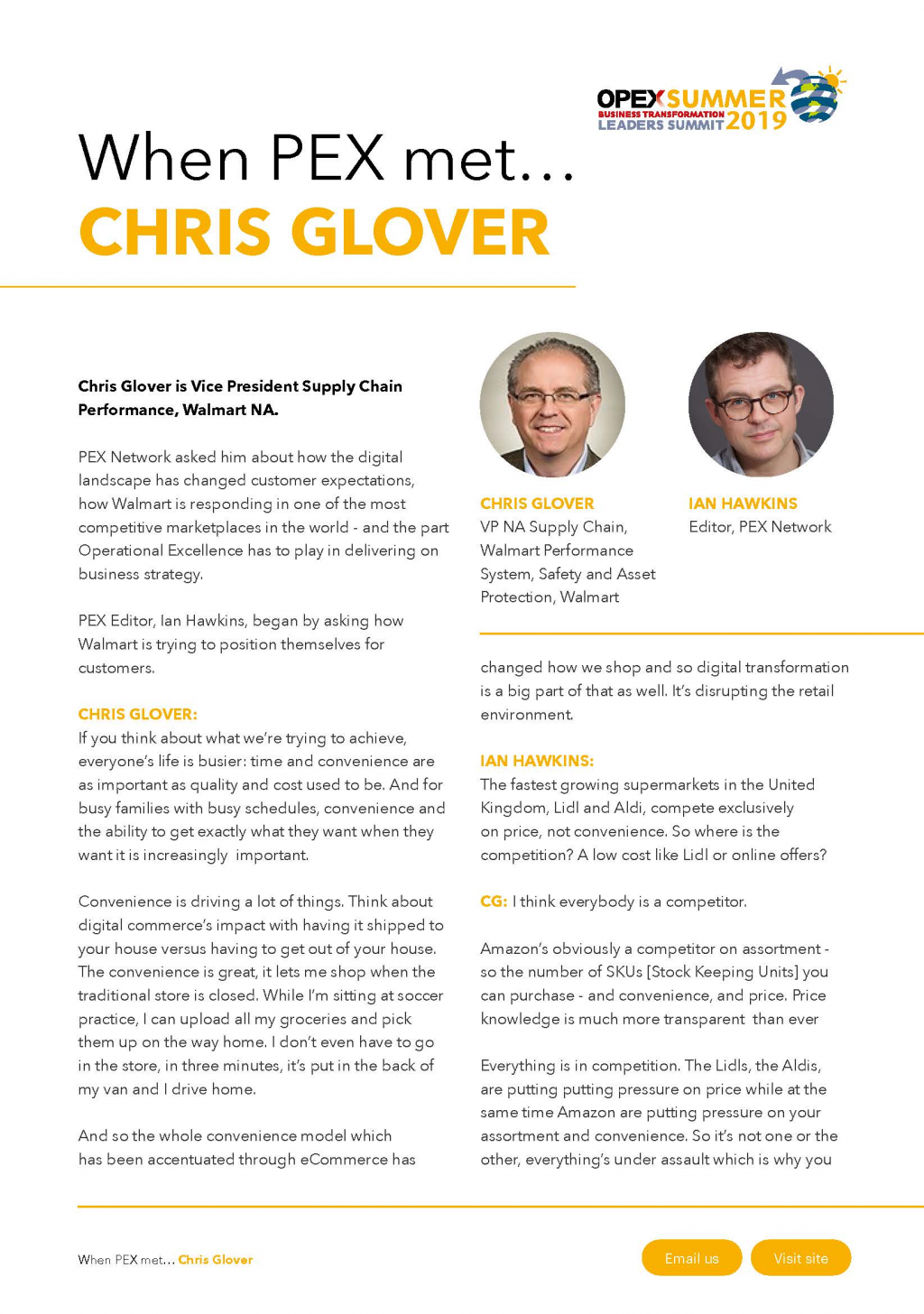 An interview with Chris Glover from Walmart