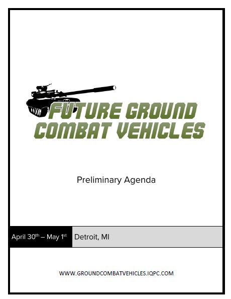 Future Ground Combat Vehicles 2019 Event Guide - Preliminary Agenda