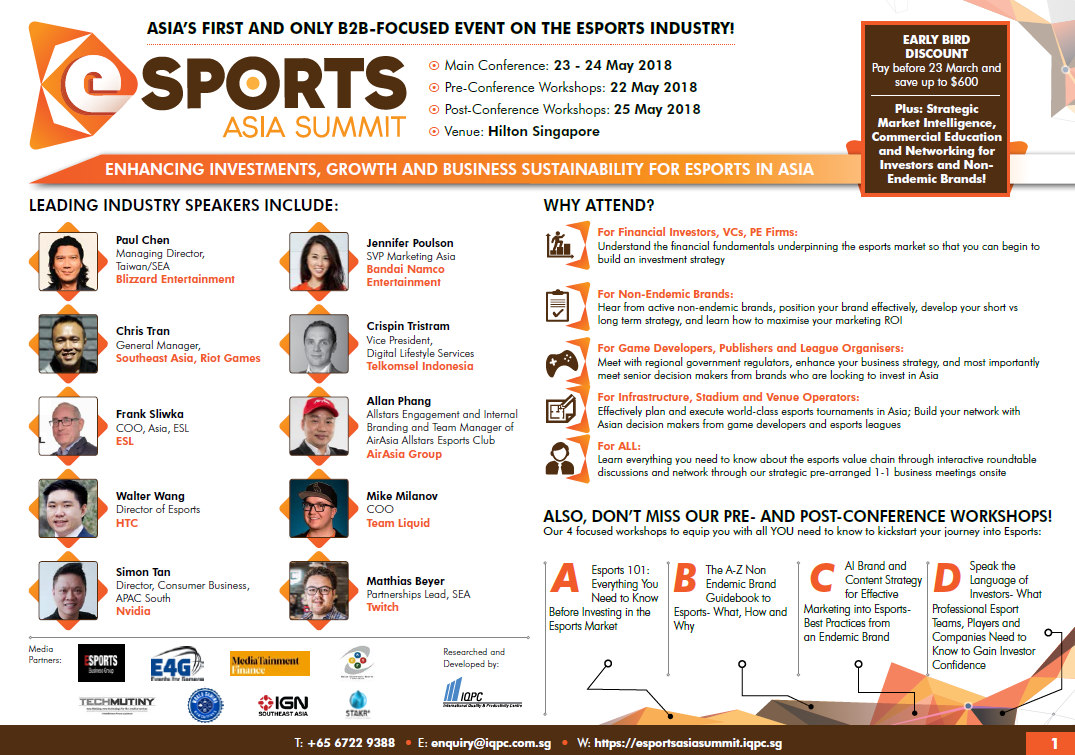 View Event Guide - 2nd Esports Asia Summit 2019