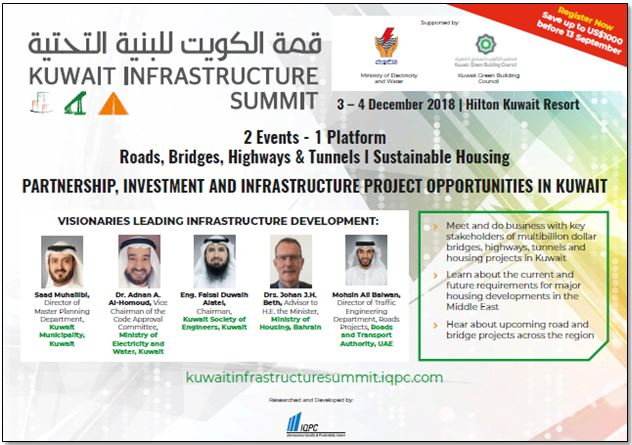 View the full event outline - Kuwait Infrastructure Congress