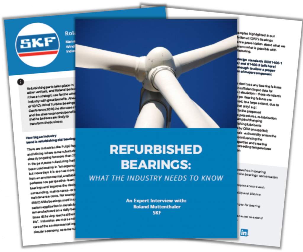 Interview with SKF on Refurbished Bearings: What the Industry Needs to Know