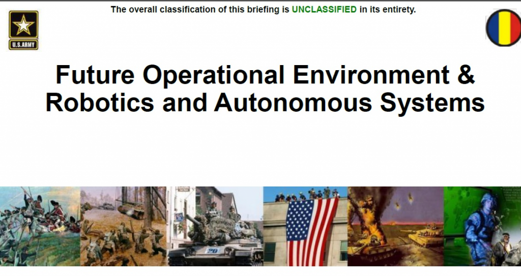 Future Operational Environment & Robotics and Autonomous Systems