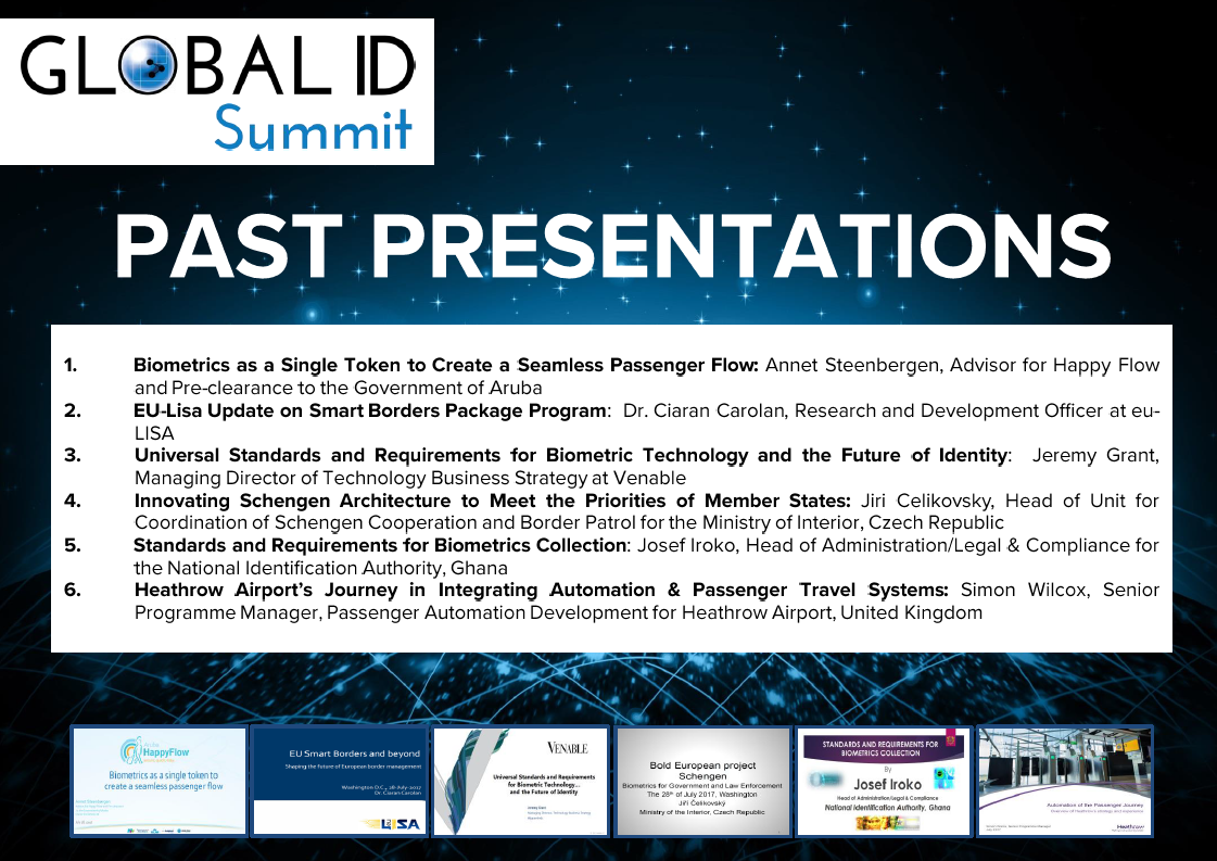 Past Presentations of Global ID