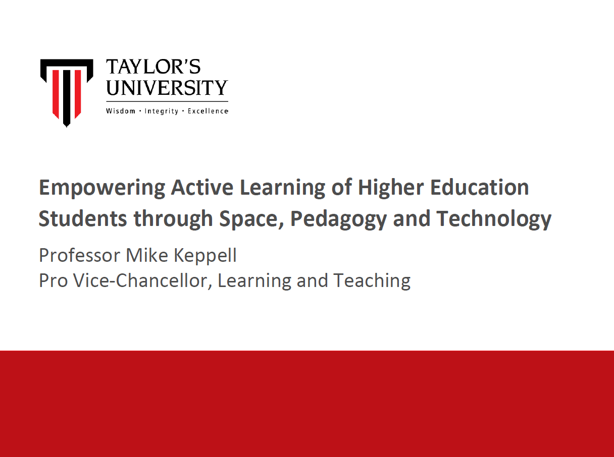 Empowering Active Learning of Higher Education Students through Space, Pedagogy and Technology