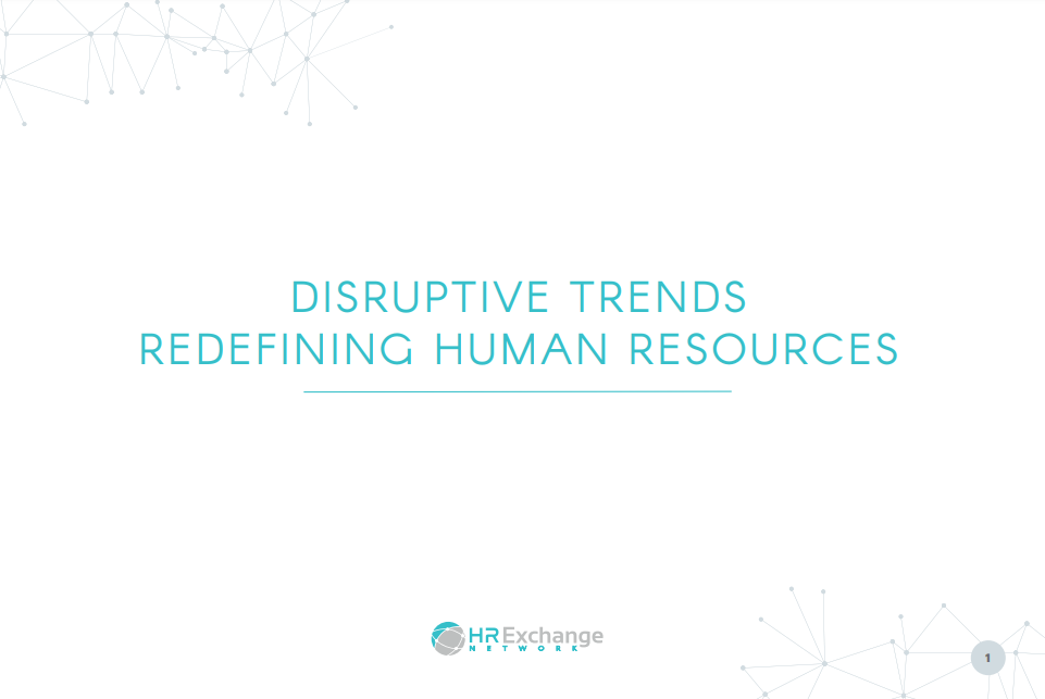 Disruptive Trends Redefining Human Resources