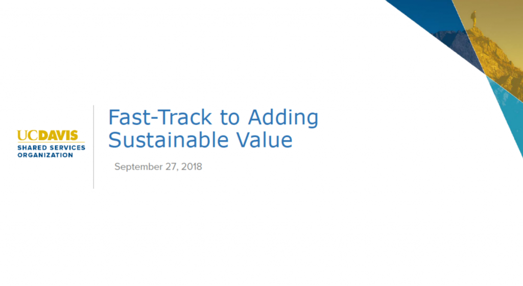 Fast-Track to Adding Sustainable Value