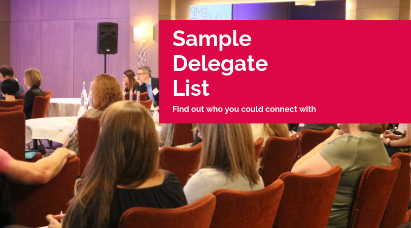 Employee Experience Forum Sample Delegate List