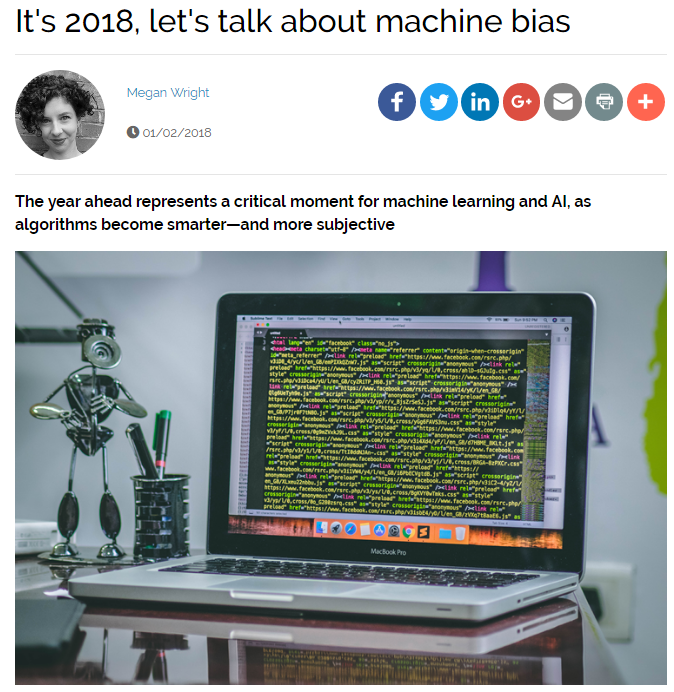 It's 2018, Let's Talk About Machine Bias