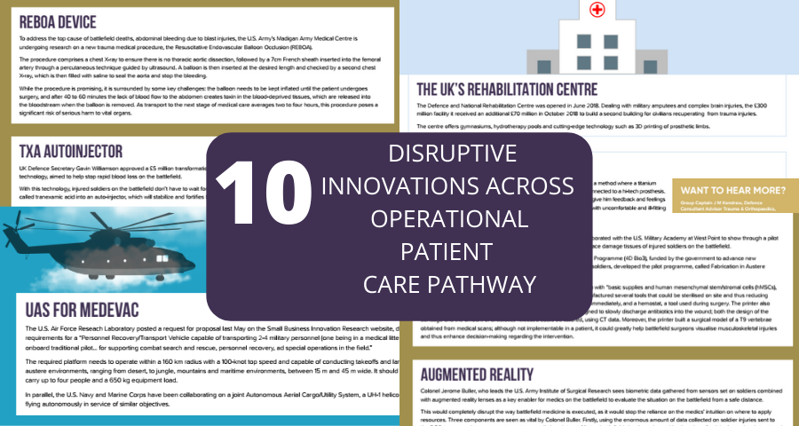 10 disruptive innovations across the Operational Patient Care Pathway