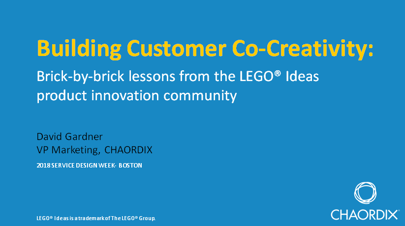 Building Customer Co-Creativity: Brick-by-brick Lessons from the LEGO® Ideas Product Innovation Community