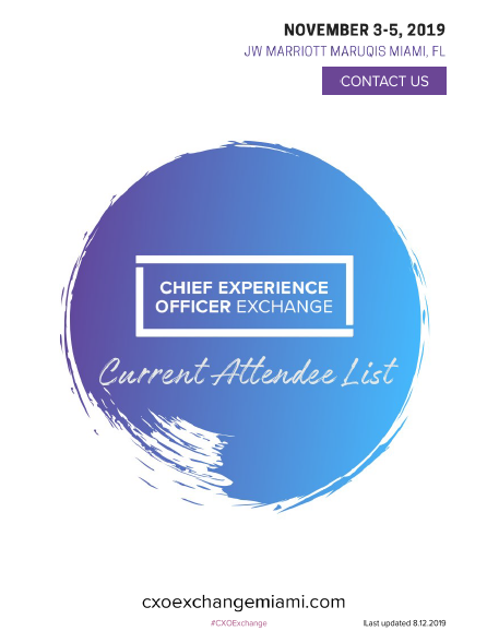 CXO Current Attendee List