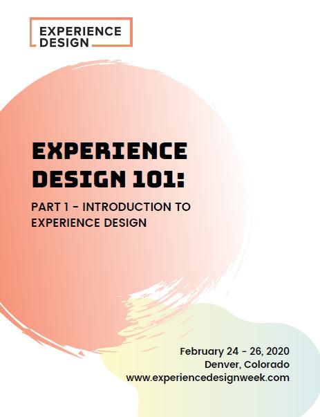 Experience Design 101 (Part 1)