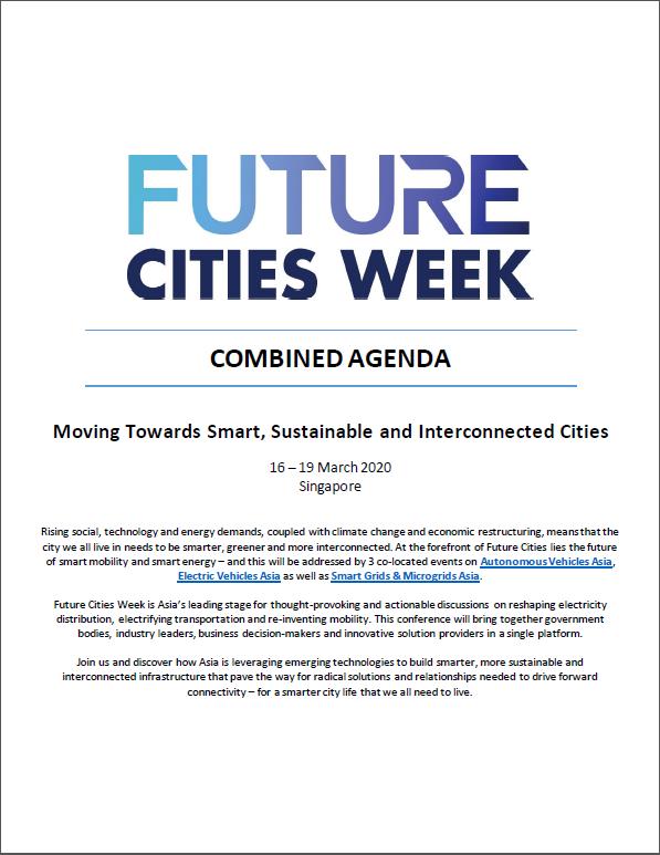 Download the Future Cities Week 2020 Agenda
