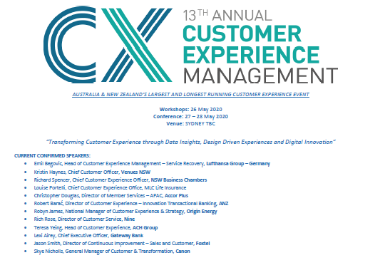 Preliminary Event Guide | Customer Experience Management 2020