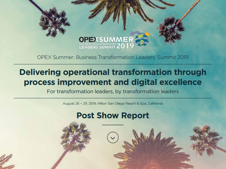 OPEX Summer Post Show Report 2019