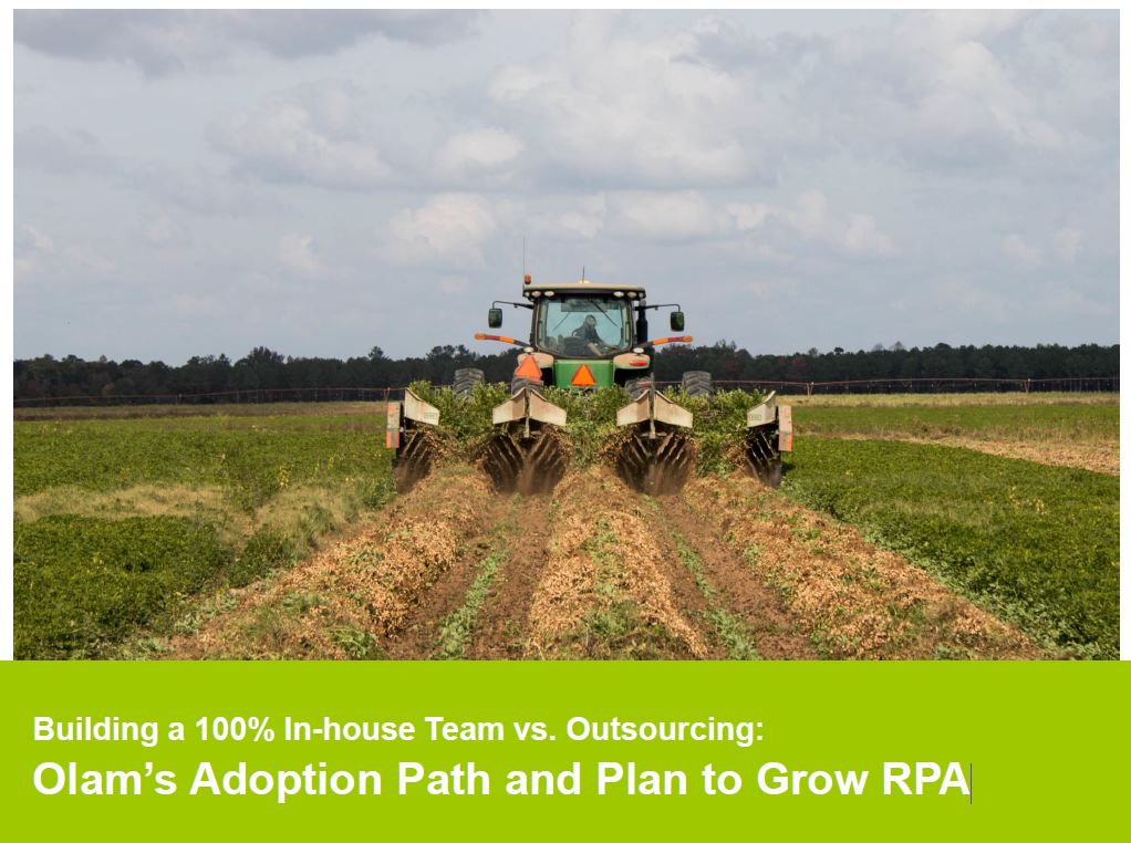 View the Past Presentation - Building a 100% In-house Team vs. Outsourcing: Olam's Adoption Path and Plan to Grow RPA