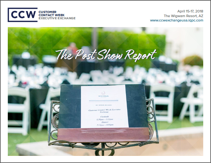 The CCW Executive Exchange April 2018 Post Show Report