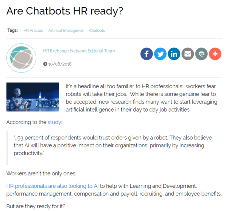 Is HR Ready for Chatbots? Here's How Unilever Implemented a New HR Chatbot