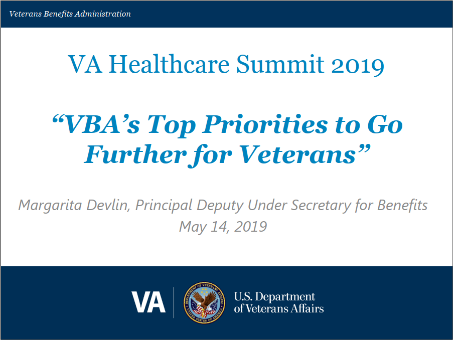 VBA's Top Priorities to Go Further for Veterans