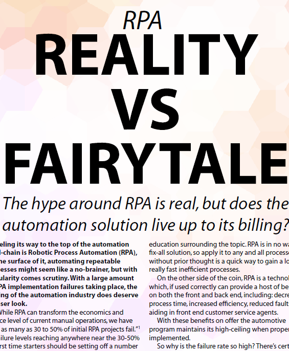 OPEX Week 2019 - spex - RPA: reality vs fairytale