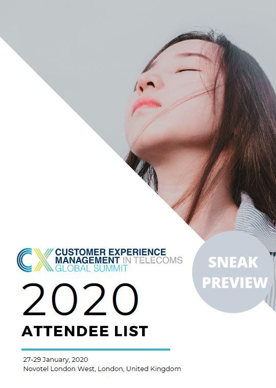 2020 Attendee List - Sneak Preview