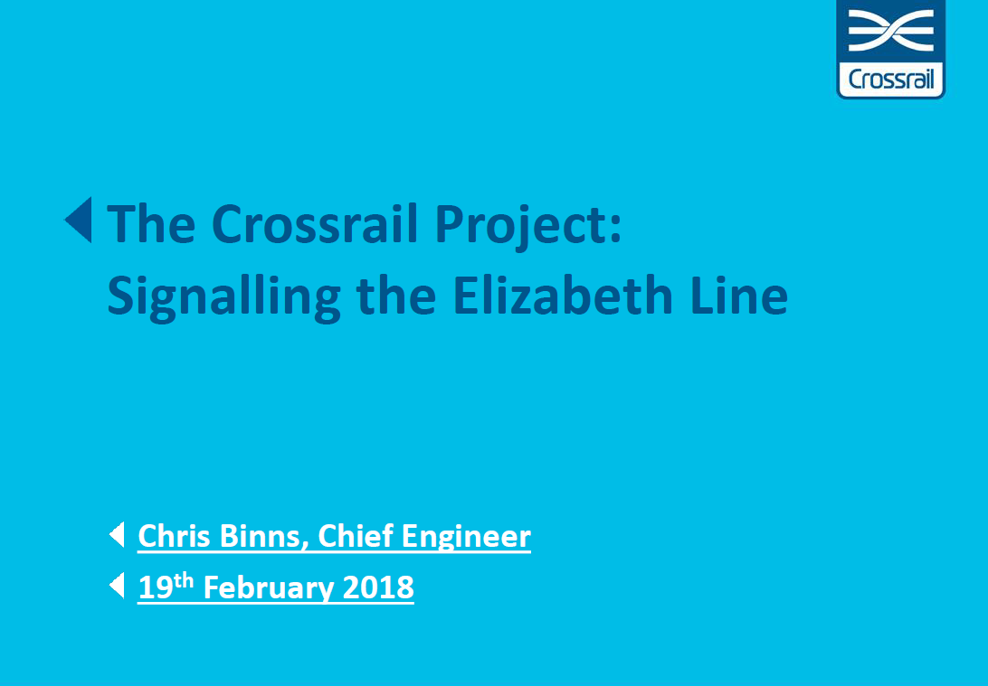 Signalling on the Elizabeth Line: Insights into Train Throughput Expectations at Crossrail