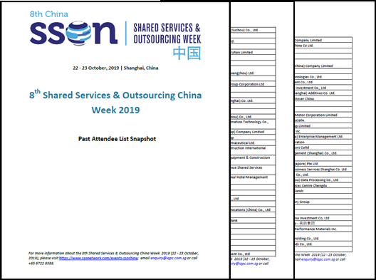 Shared Services China Week - Attendee Snapshot
