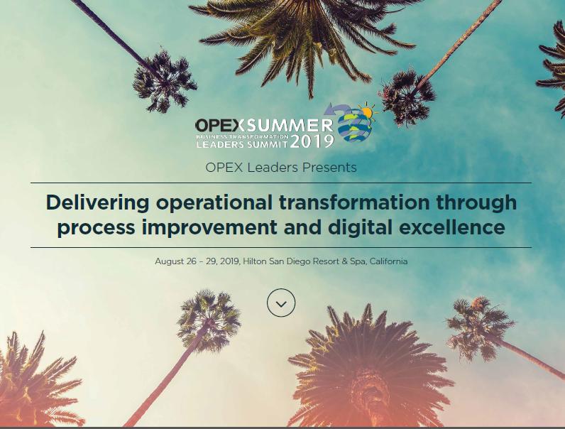OPEX Summer 2019 Full Agenda