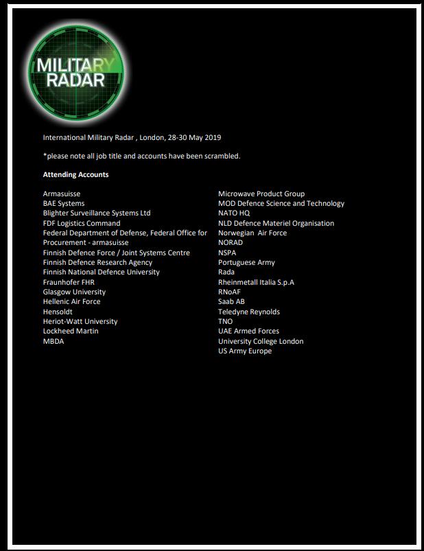 Attendee List 2019
