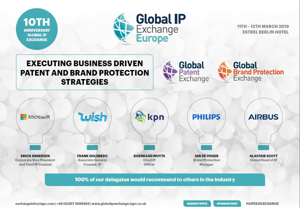 Download the Full Global IP Exchange Agenda